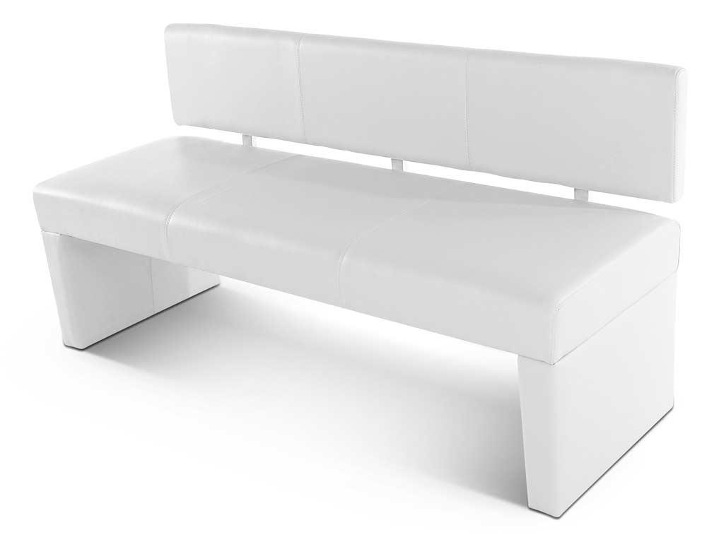 sam sitzbank selena 164 cm recyceltes leder wei auf lager. Black Bedroom Furniture Sets. Home Design Ideas