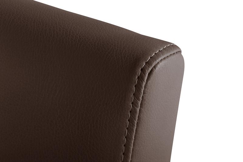 Sam design echt leder armlehnstuhl braun buche sidney auf lager - Armlehnstuhl leder braun ...