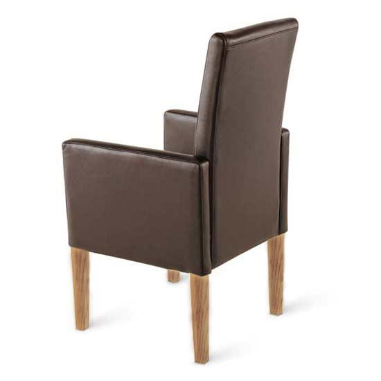 sam armlehn stuhl recyceltes leder braun eiche urdana auf lager. Black Bedroom Furniture Sets. Home Design Ideas