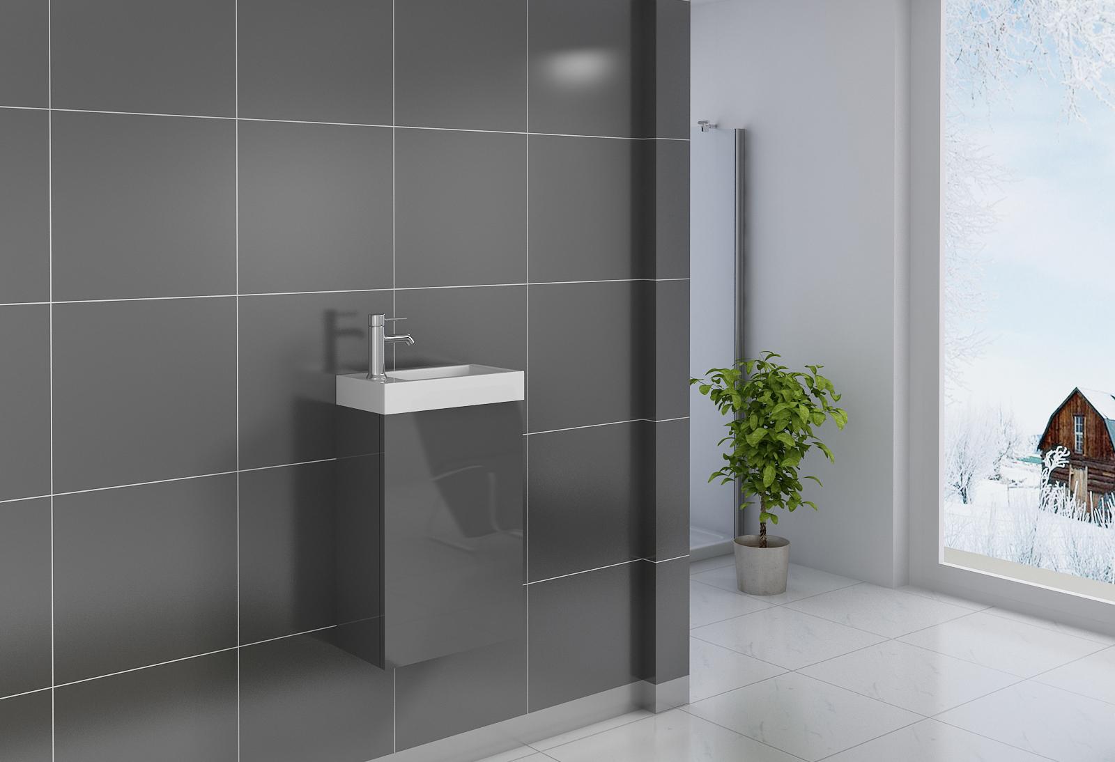 sam badezimmer waschplatz grau hochglanz vega demn chst