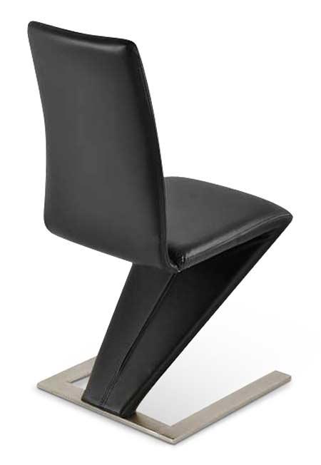 design esszimmer lederstuhl schwarz edelstahlfarbig basel lager - Designer Stuhl Esszimmer