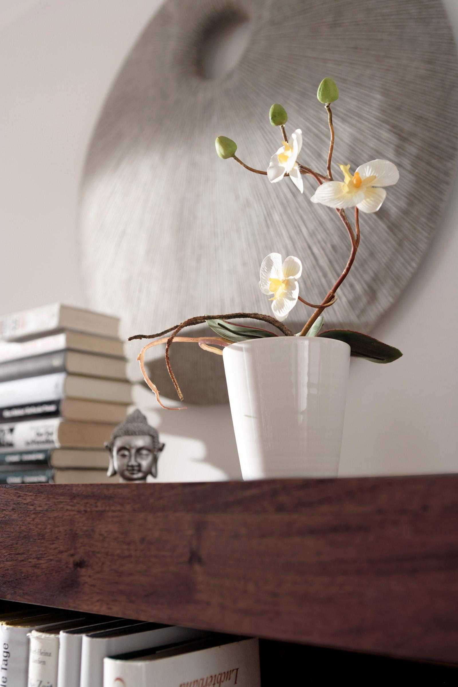 sam highboard timber 6627 akazie massiv tabak 160 x 142 x 50 cm auf lager. Black Bedroom Furniture Sets. Home Design Ideas