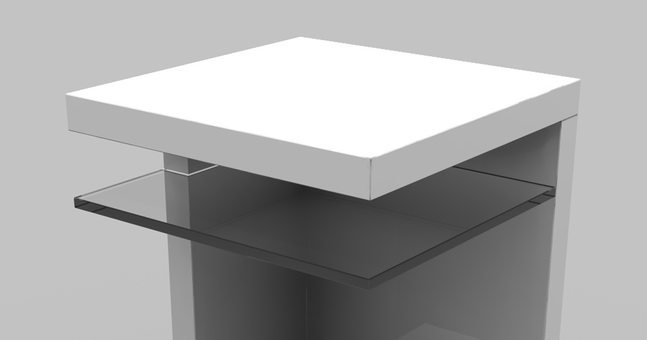 sam nachtkommode f r boxspringbetten hochglanz wei lilli auf lager. Black Bedroom Furniture Sets. Home Design Ideas