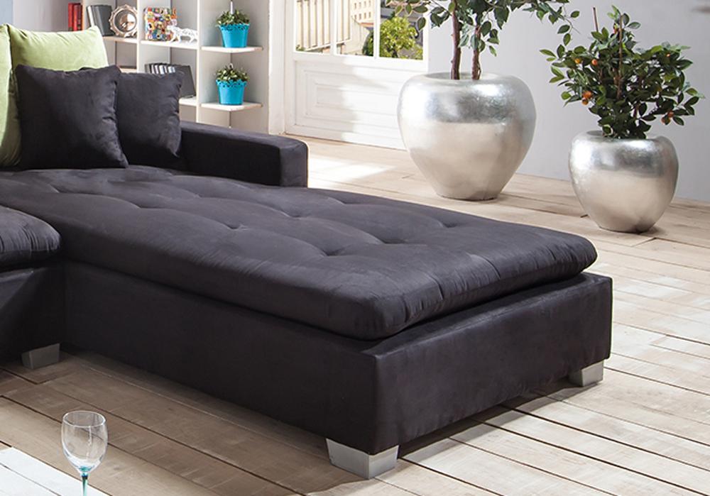 sam ecksofa stoff schwarz sofa villa 305 x 200 cm auf. Black Bedroom Furniture Sets. Home Design Ideas
