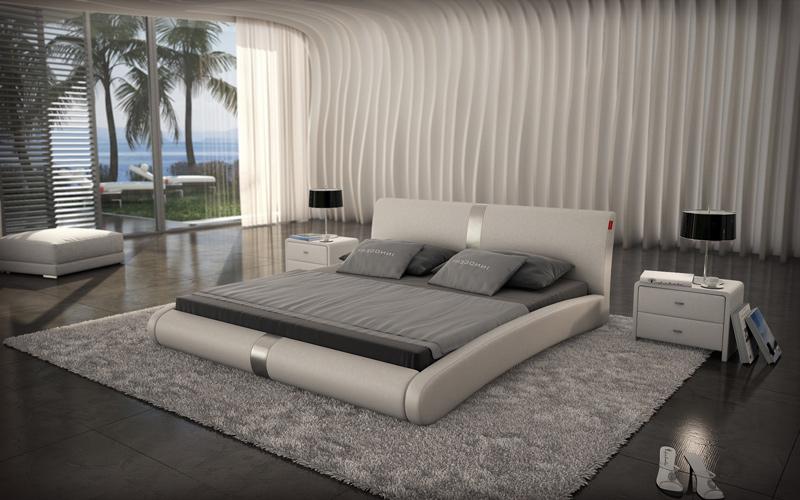 sam design bett 140 x 200 cm wei zen auf lager. Black Bedroom Furniture Sets. Home Design Ideas