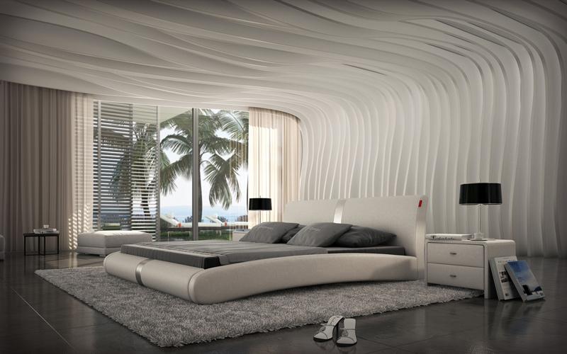 sam polsterbett in wei 200 x 220 cm zen auf lager. Black Bedroom Furniture Sets. Home Design Ideas