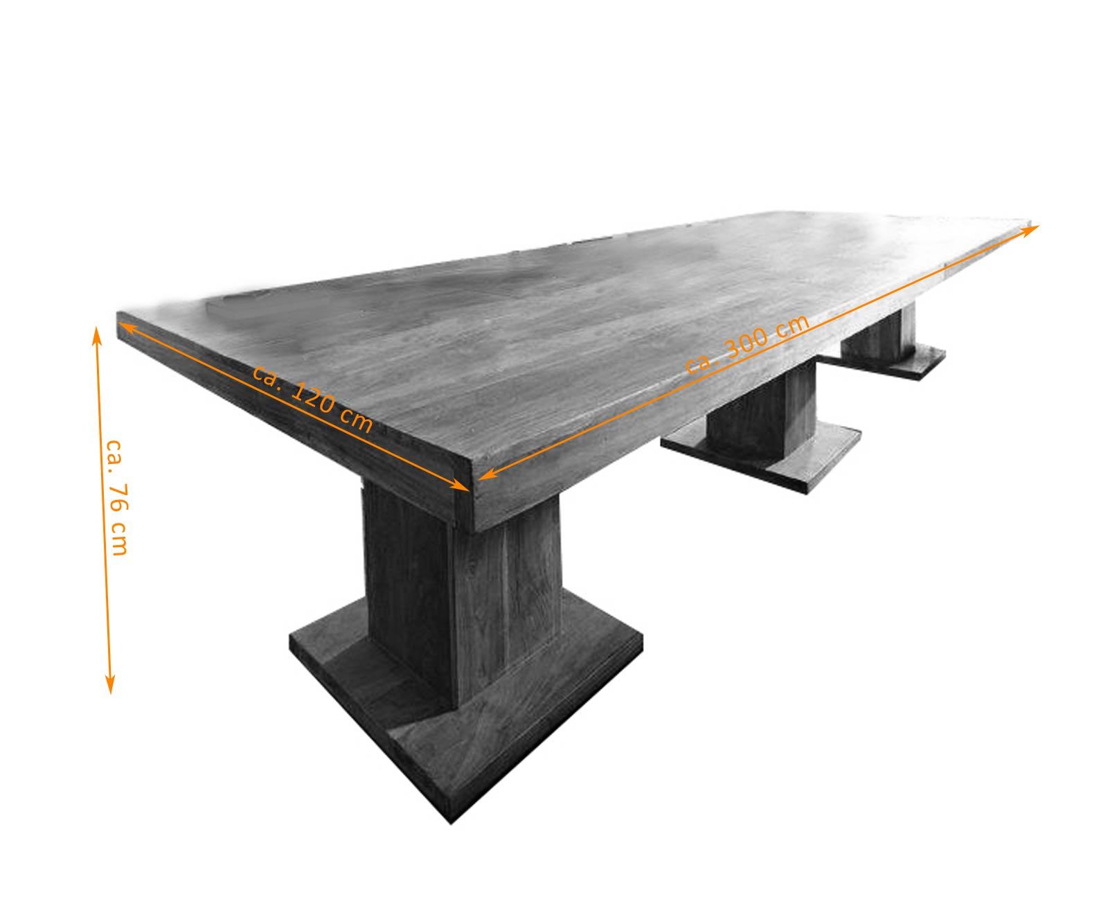 sam esstisch timber 6697 akazie massiv tabak 300 x 76 x 120 cm auf lager. Black Bedroom Furniture Sets. Home Design Ideas