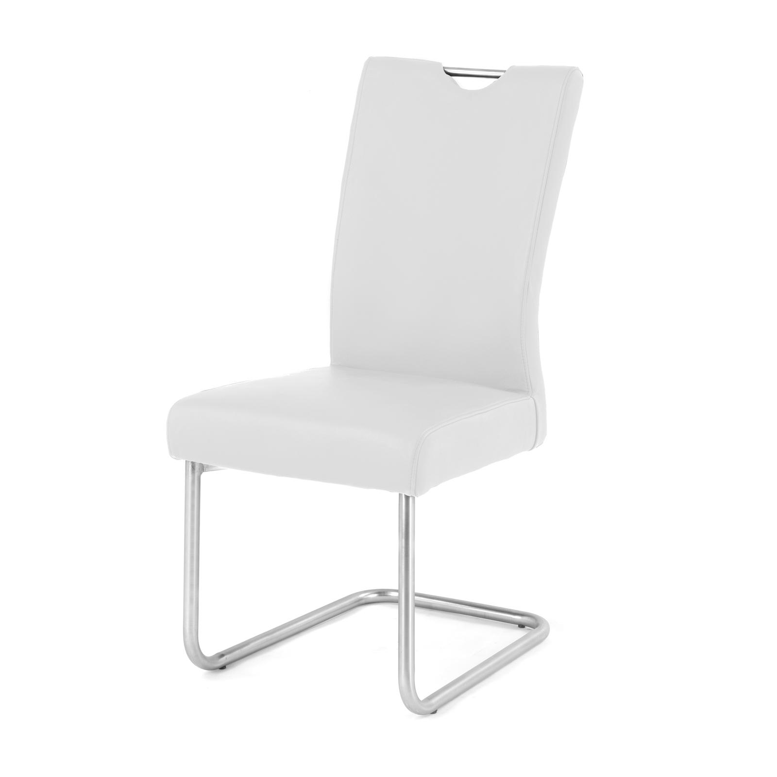 sam design freischwinger stuhl echtleder wei rh2911 auf. Black Bedroom Furniture Sets. Home Design Ideas