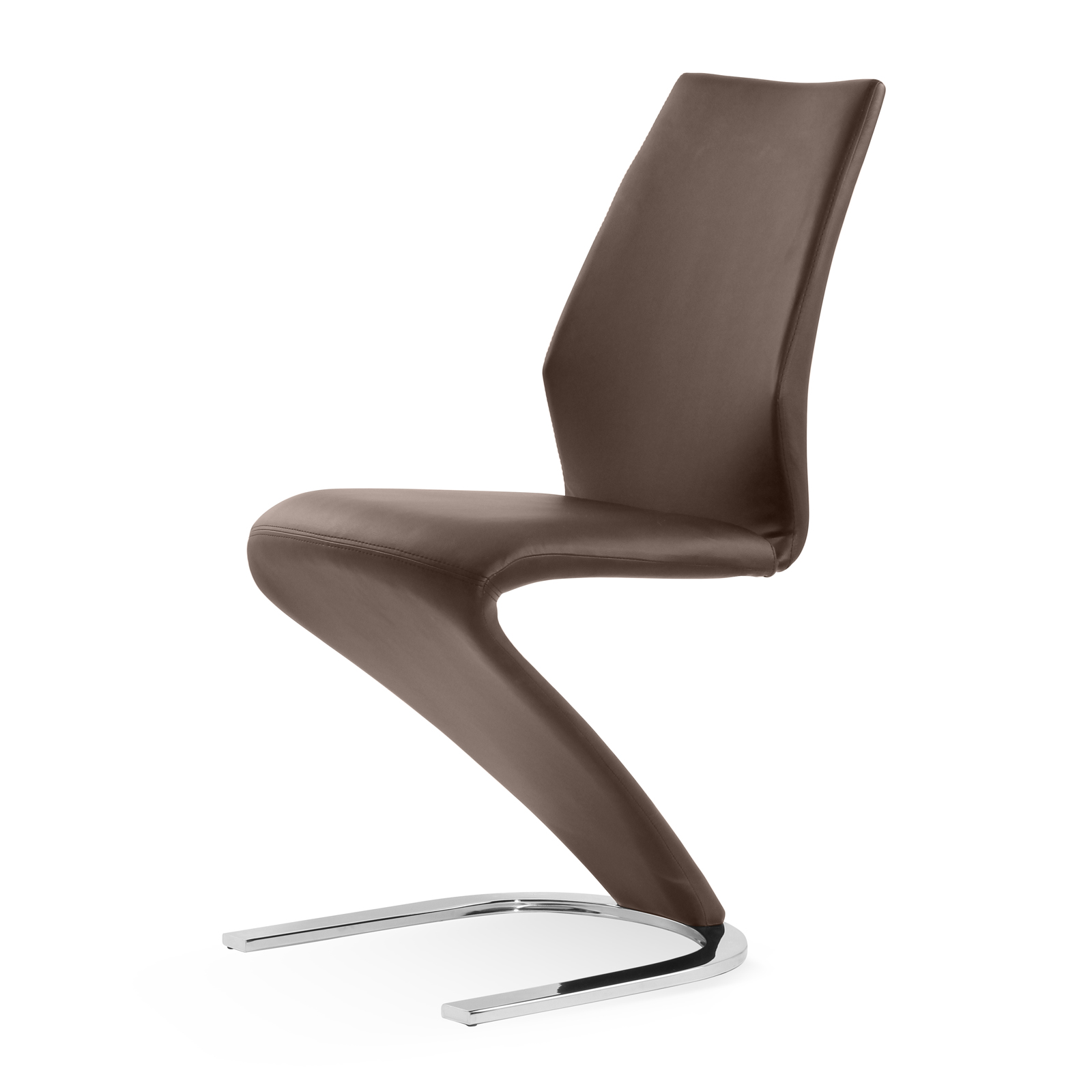 sam design freischwinger stuhl bernhard echtleder in braun nc2275 auf lager. Black Bedroom Furniture Sets. Home Design Ideas