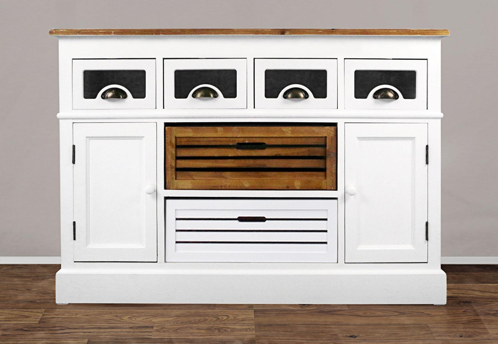 sam sideboard 120 cm wei lackiertes paulowniaholz paris. Black Bedroom Furniture Sets. Home Design Ideas