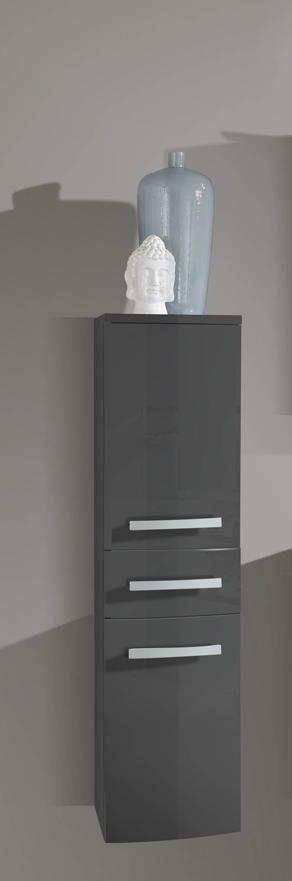 sam 5tlg badezimmer set hochglanz grau 90cm genf auf lager. Black Bedroom Furniture Sets. Home Design Ideas