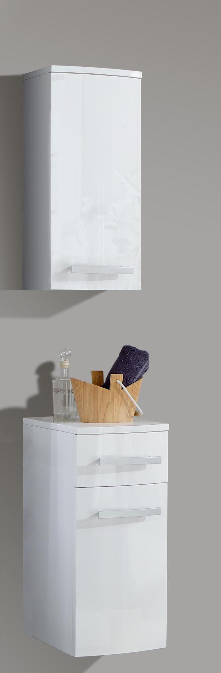 sam 4tlg badezimmer set hochglanz wei 100cm genf deluxe auf lager. Black Bedroom Furniture Sets. Home Design Ideas