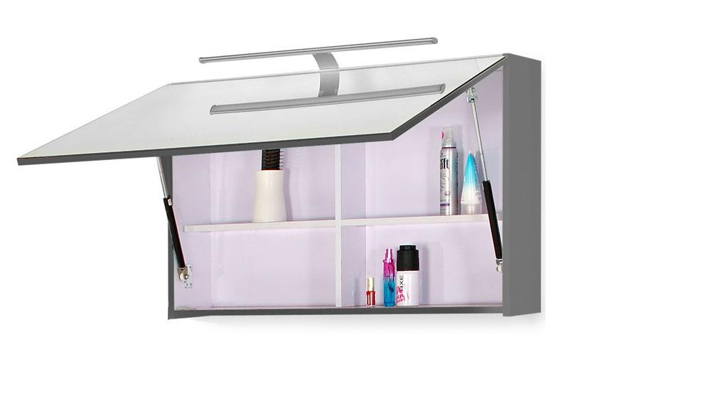 sam 5tlg badezimmer set hochglanz wei grau 70 cm genf deluxe auf lager. Black Bedroom Furniture Sets. Home Design Ideas