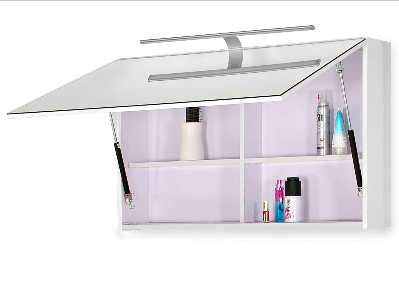 sam 5tlg badezimmer set hochglanz wei 70 cm genf deluxe xl auf lager. Black Bedroom Furniture Sets. Home Design Ideas