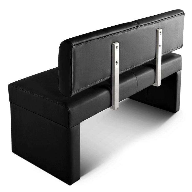 sam sitzbank sofia 140 cm recyceltes leder schwarz auf lager. Black Bedroom Furniture Sets. Home Design Ideas