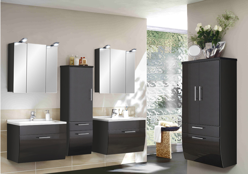 sam badm bel set xl anthrazit breite hs beckenauswahl santana. Black Bedroom Furniture Sets. Home Design Ideas