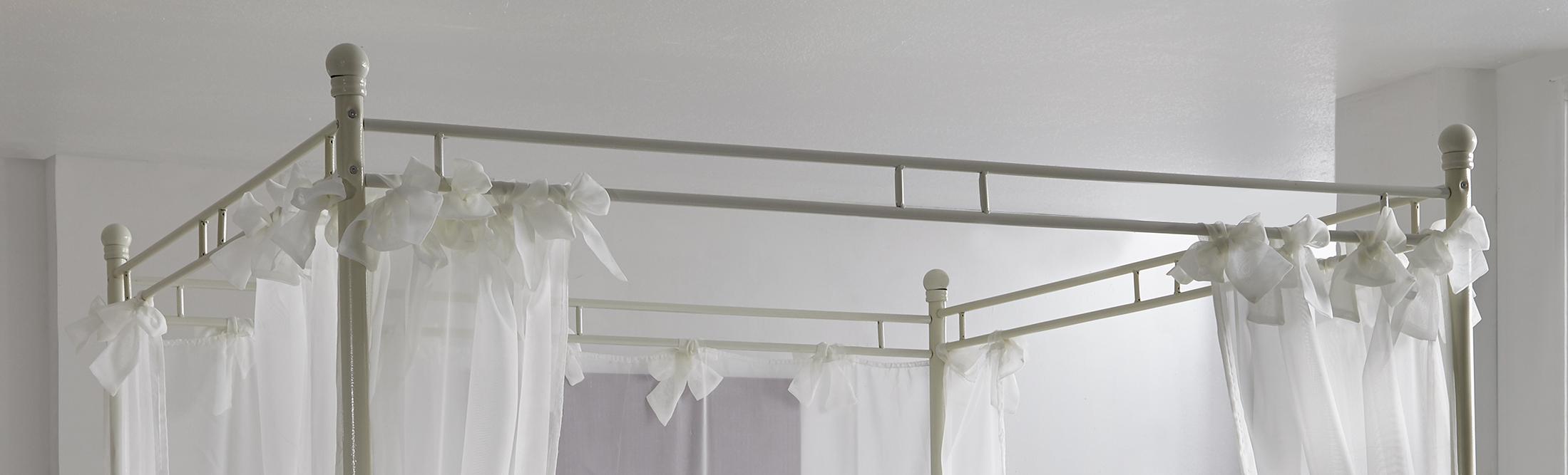 sam design himmelbett 140cm creme wei venezia demn chst. Black Bedroom Furniture Sets. Home Design Ideas