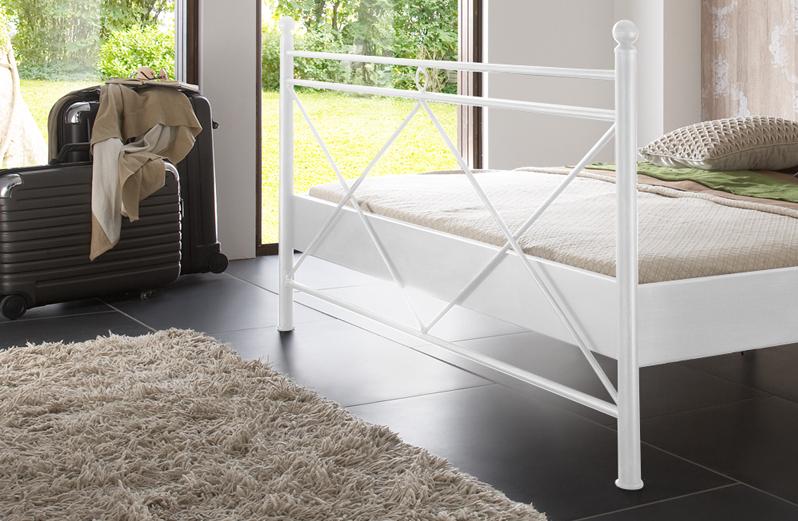 sam metallbett wei 160 x 200 cm kea g nstig. Black Bedroom Furniture Sets. Home Design Ideas