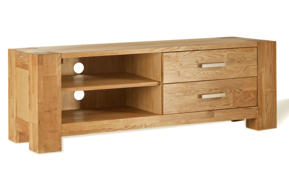 Sam tv schrank wildeiche massiv 130 cm sit zeus 1615 01 for Schrank wildeiche