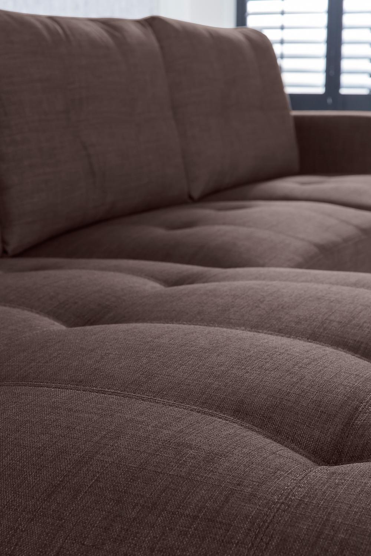 sam ecksofa braun aviano stoff polsterecke 165 x 270 cm auf lager. Black Bedroom Furniture Sets. Home Design Ideas