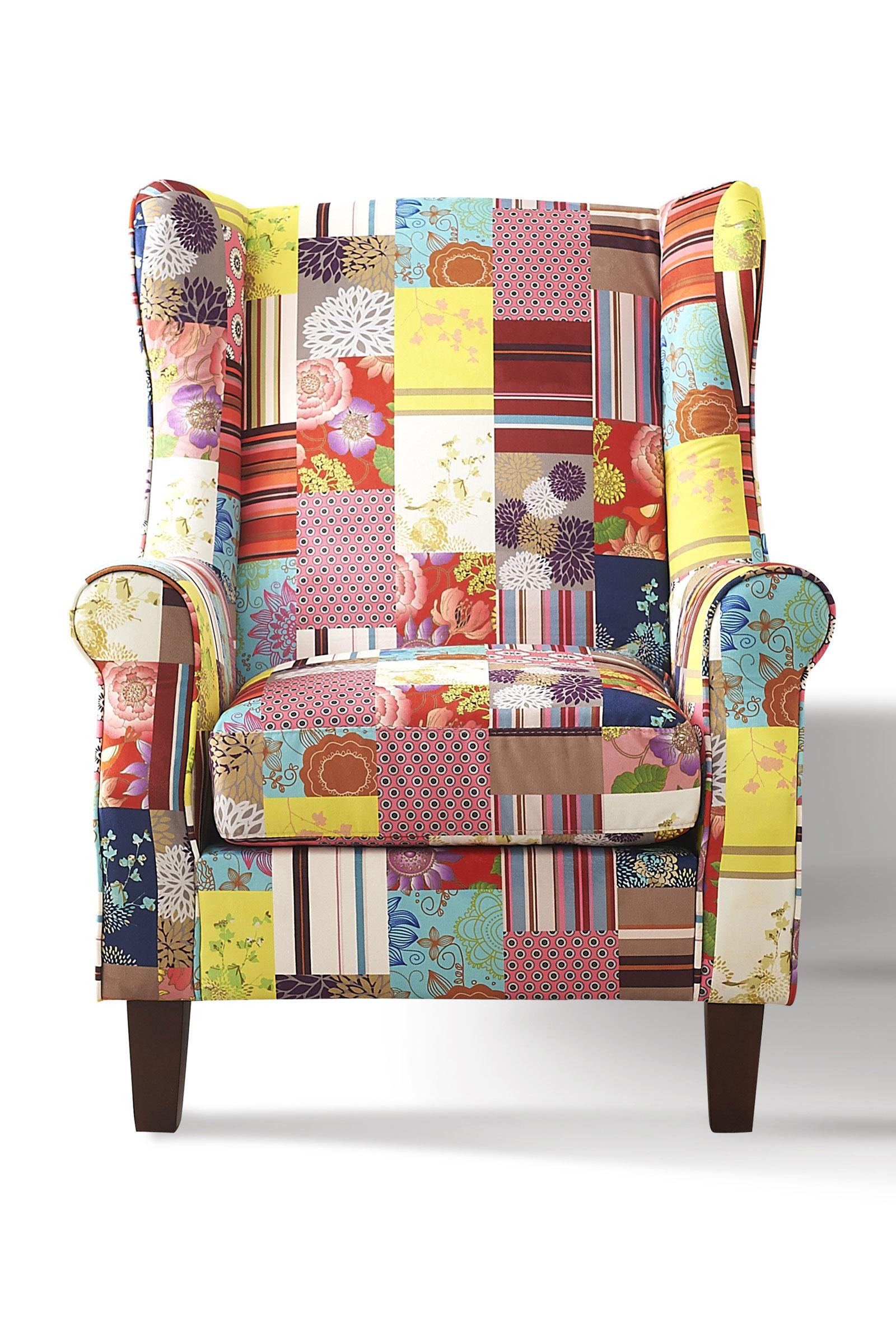 sam armlehnsessel mit hocker bunt flower sit. Black Bedroom Furniture Sets. Home Design Ideas