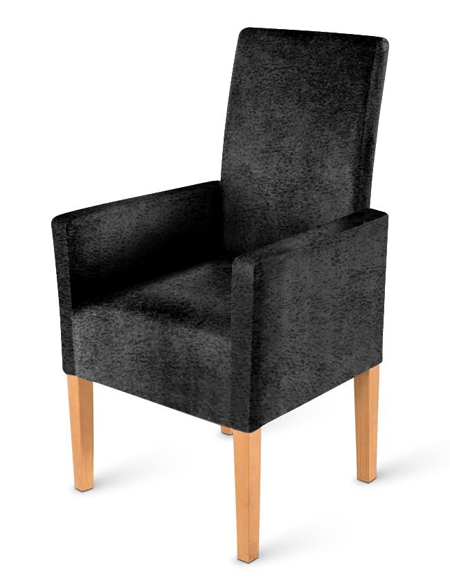 sam armlehnstuhl stoff wildlederoptik grau buche kimi. Black Bedroom Furniture Sets. Home Design Ideas
