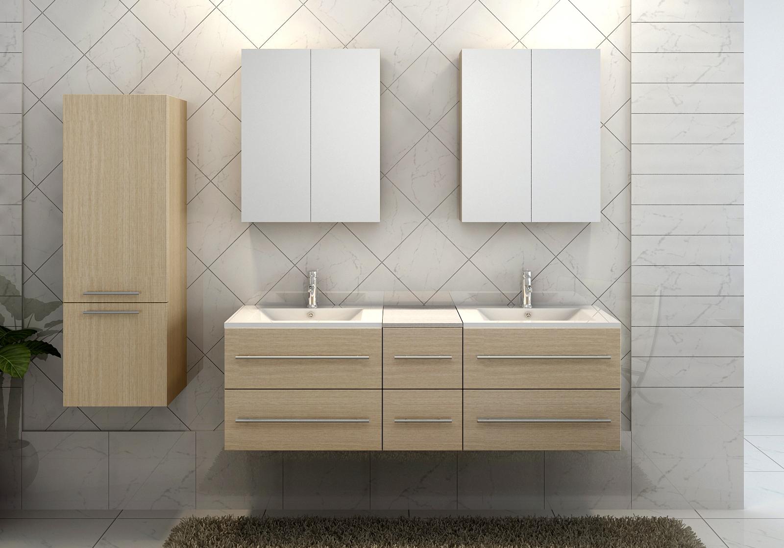 sam bad barca deluxe xl 6tlg 150 cm spiegelschrank. Black Bedroom Furniture Sets. Home Design Ideas