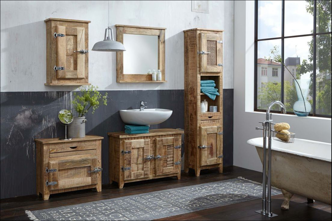 sam bad set 5tlg vintage holz used antik frigo. Black Bedroom Furniture Sets. Home Design Ideas