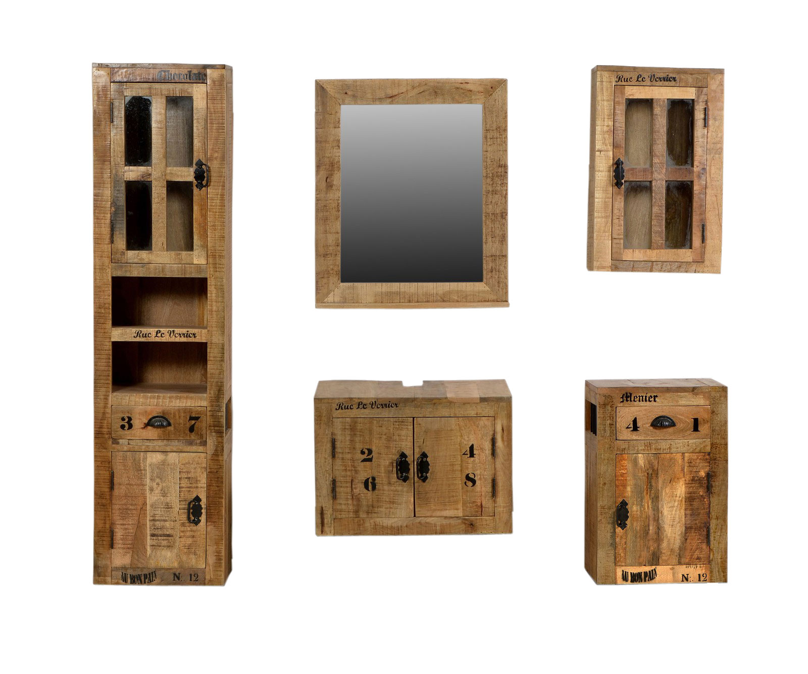 sam bad set 5tlg vintage holz used antik rustic. Black Bedroom Furniture Sets. Home Design Ideas