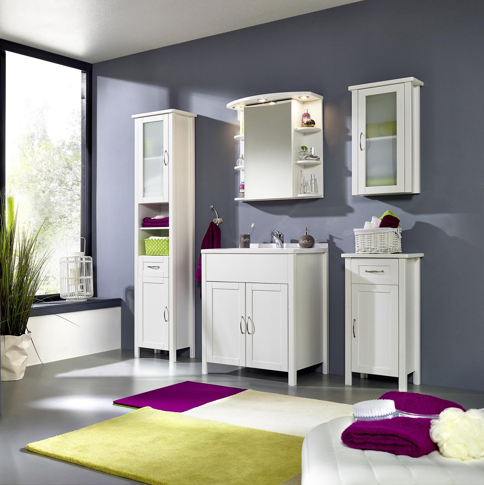 sam bad set wei massiv kiefer gewachst 5tlg venedig hoch. Black Bedroom Furniture Sets. Home Design Ideas