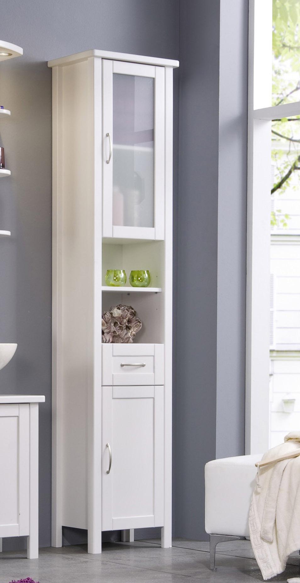 sam bad wei massiv kiefer gewachst hochschrank venedig. Black Bedroom Furniture Sets. Home Design Ideas