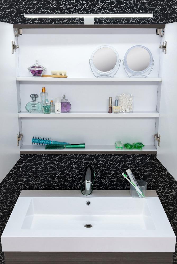 sam badezimmer set lunik 2tlg spiegel tr ffeleiche 80 cm. Black Bedroom Furniture Sets. Home Design Ideas