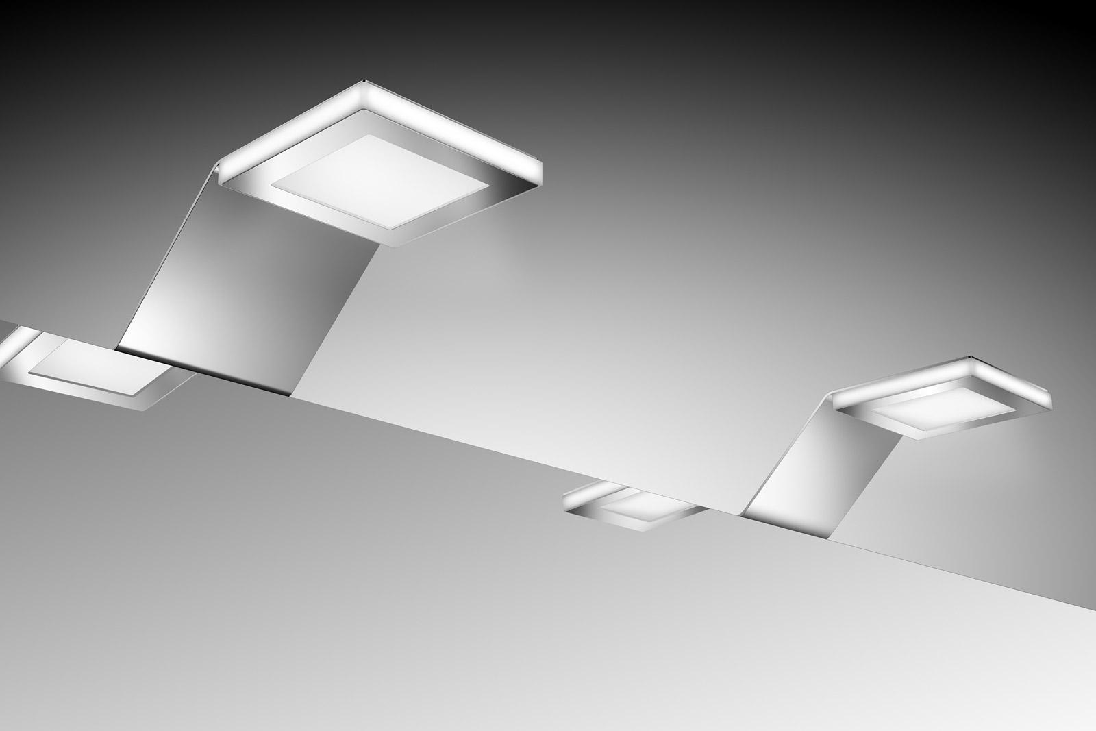sam badezimmer spiegelschrank beleuchtung led 2er set demn chst. Black Bedroom Furniture Sets. Home Design Ideas