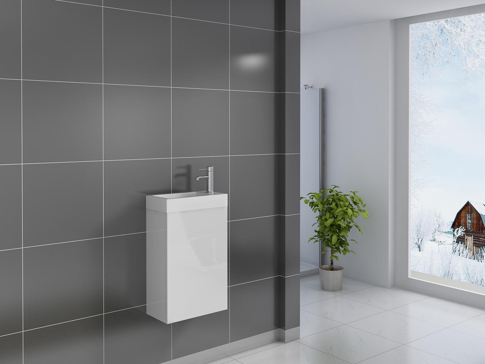sam badezimmer waschplatz wei hochglanz vega demn chst. Black Bedroom Furniture Sets. Home Design Ideas