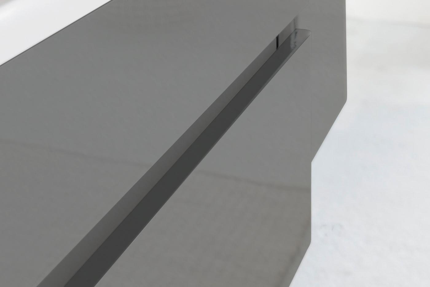 sam badezimmerm bel parma 4tlg grau hochglanz 80 cm. Black Bedroom Furniture Sets. Home Design Ideas