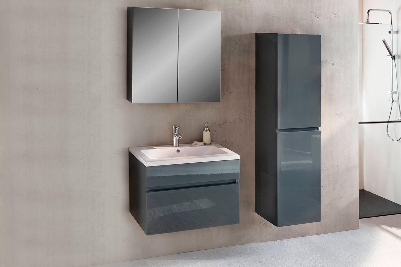 sam badm bel 3tlg set softclose grau hochglanz parma 70 cm demn chst. Black Bedroom Furniture Sets. Home Design Ideas