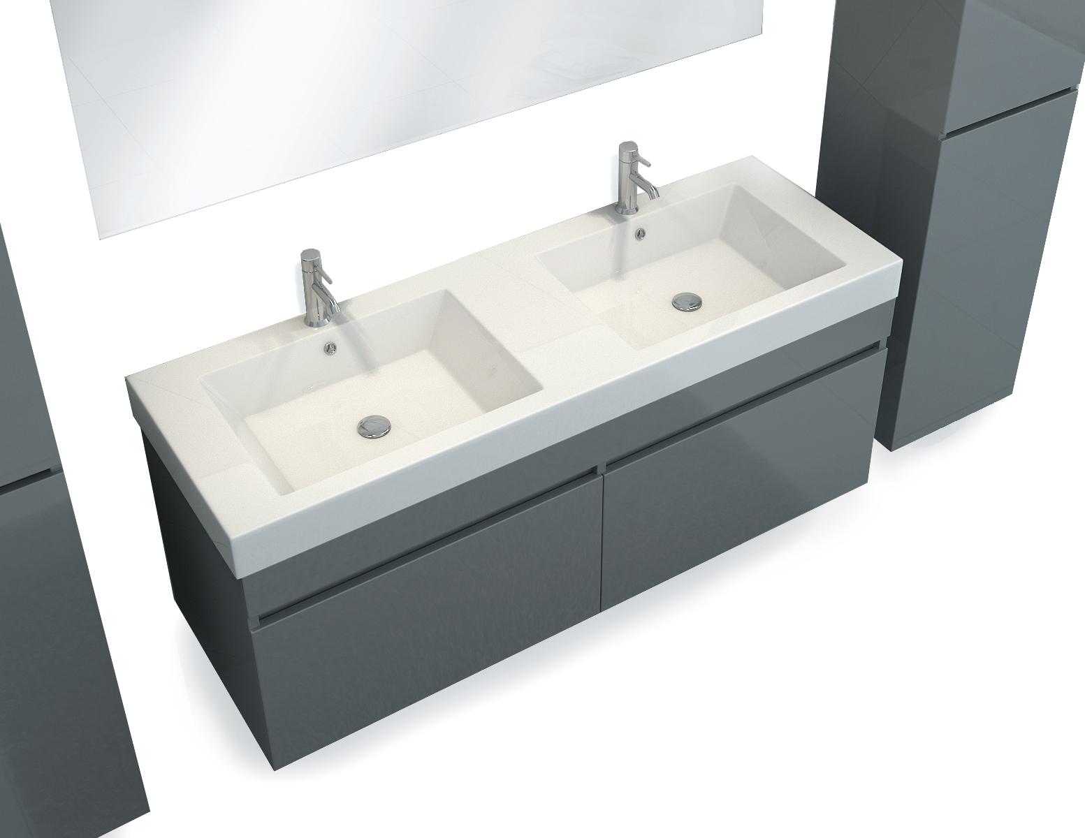 sam badm bel 4tlg set softclose grau 140 cm parma. Black Bedroom Furniture Sets. Home Design Ideas
