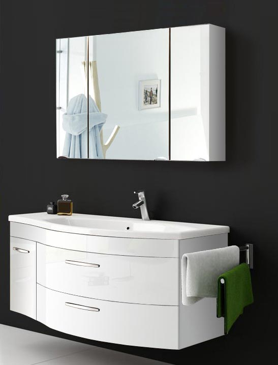 sam badm bel hochglanz wei 2tlg spiegelauswahl vena rechts. Black Bedroom Furniture Sets. Home Design Ideas