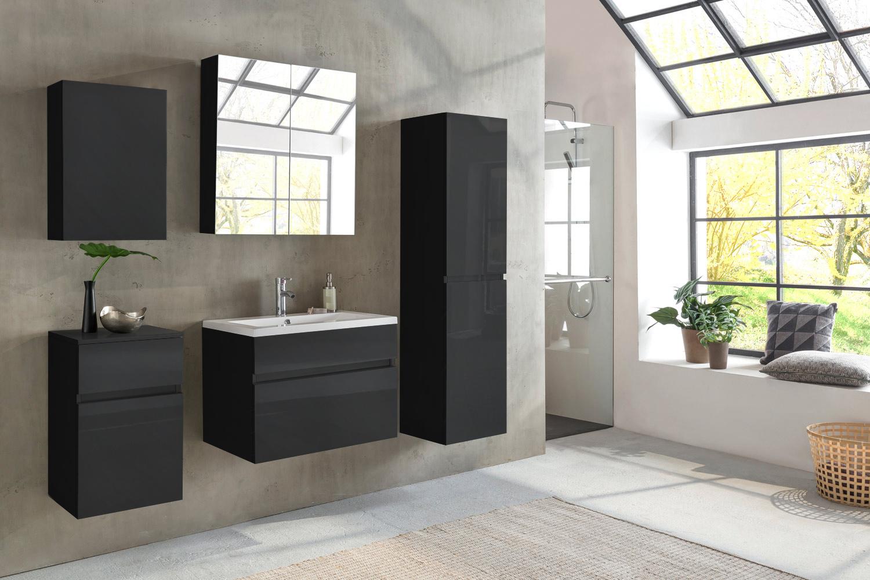 sam badm bel parma 5tlg schwarz hochglanz 80 cm. Black Bedroom Furniture Sets. Home Design Ideas