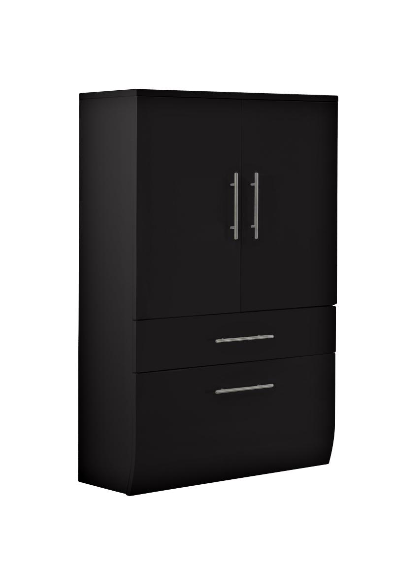 sam badm bel set 3tlg schwarz 70cm breiter hs niagara deluxe. Black Bedroom Furniture Sets. Home Design Ideas