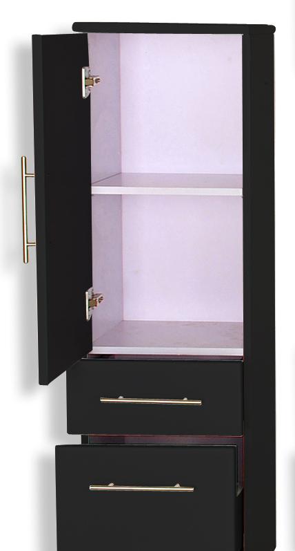 sam badm bel set 5tlg schwarz hochglanz 70cm niagara deluxe. Black Bedroom Furniture Sets. Home Design Ideas