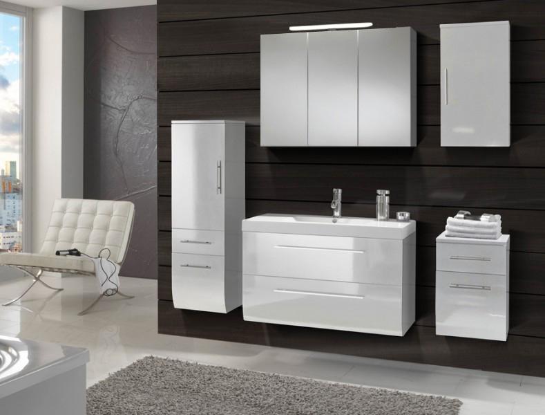 sam badm bel z rich 5tlg wei hochglanz 90 cm beckenauswahl. Black Bedroom Furniture Sets. Home Design Ideas