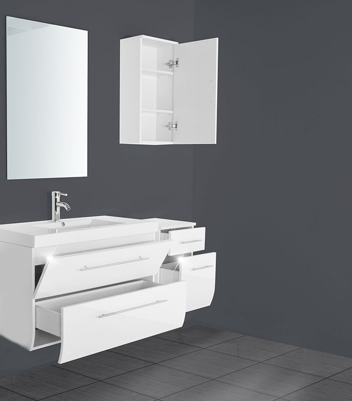 sam badm bel z rich light 4tlg wei hochglanz 90 cm. Black Bedroom Furniture Sets. Home Design Ideas