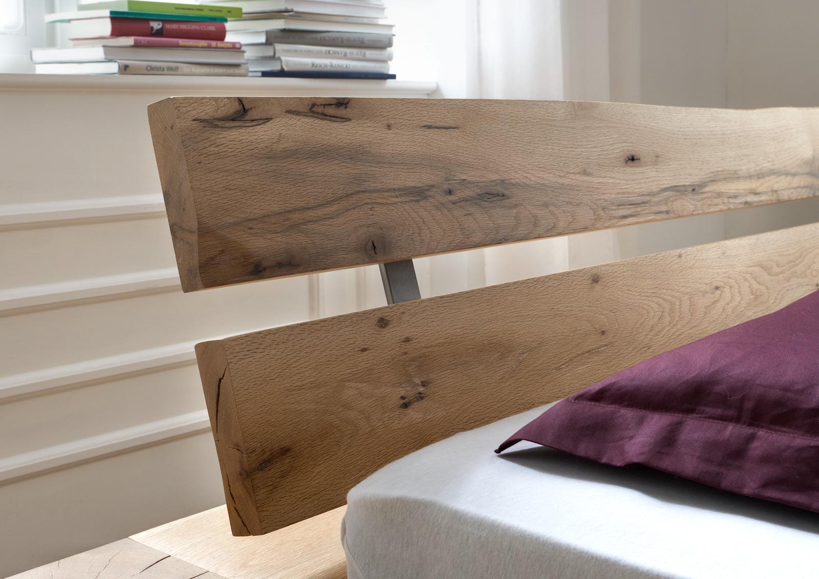 sam balkenbett alma eiche 140x200 cm geteilt farbauswahl. Black Bedroom Furniture Sets. Home Design Ideas