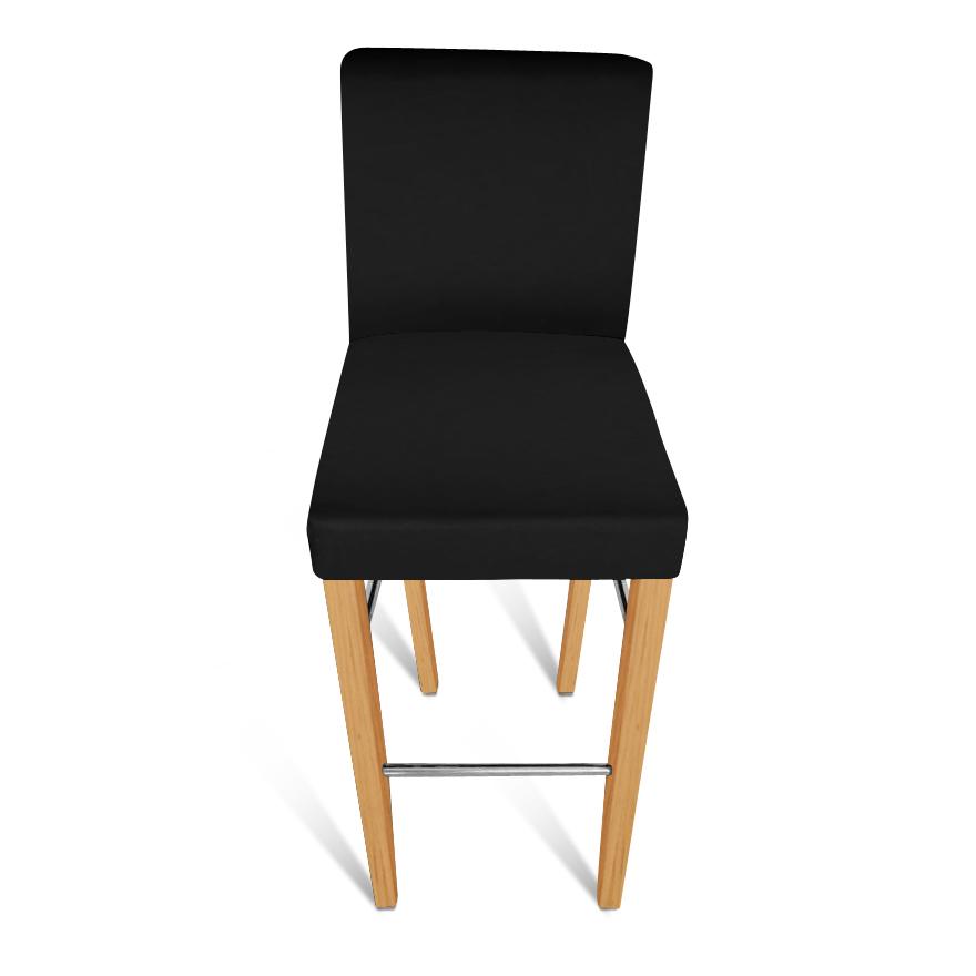 sam barhocker monte recyceltes leder schwarz buche. Black Bedroom Furniture Sets. Home Design Ideas