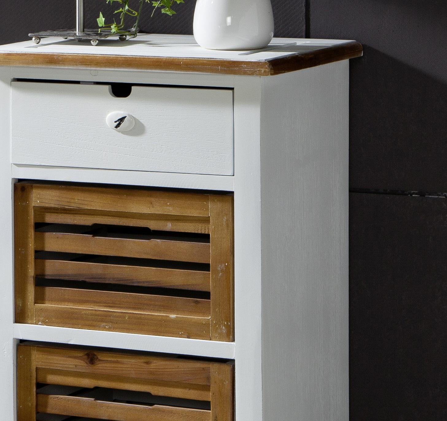 sam beistellschrank i wei lackiert paulowniaholz paris 433. Black Bedroom Furniture Sets. Home Design Ideas