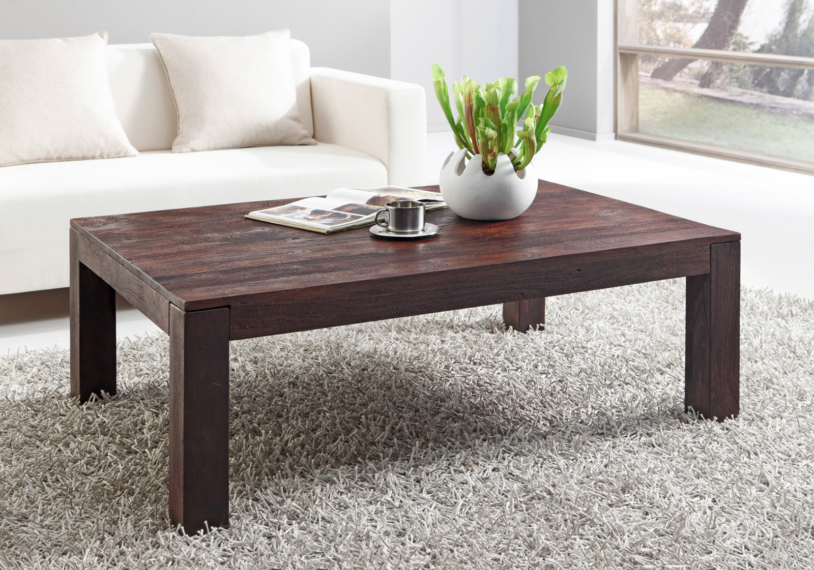 sam couchtisch timber 6605 akazie massiv tabak 120 x 40 x 80 cm. Black Bedroom Furniture Sets. Home Design Ideas