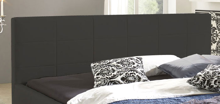 sam design bett 100 x 200 cm grau kira g nstig. Black Bedroom Furniture Sets. Home Design Ideas