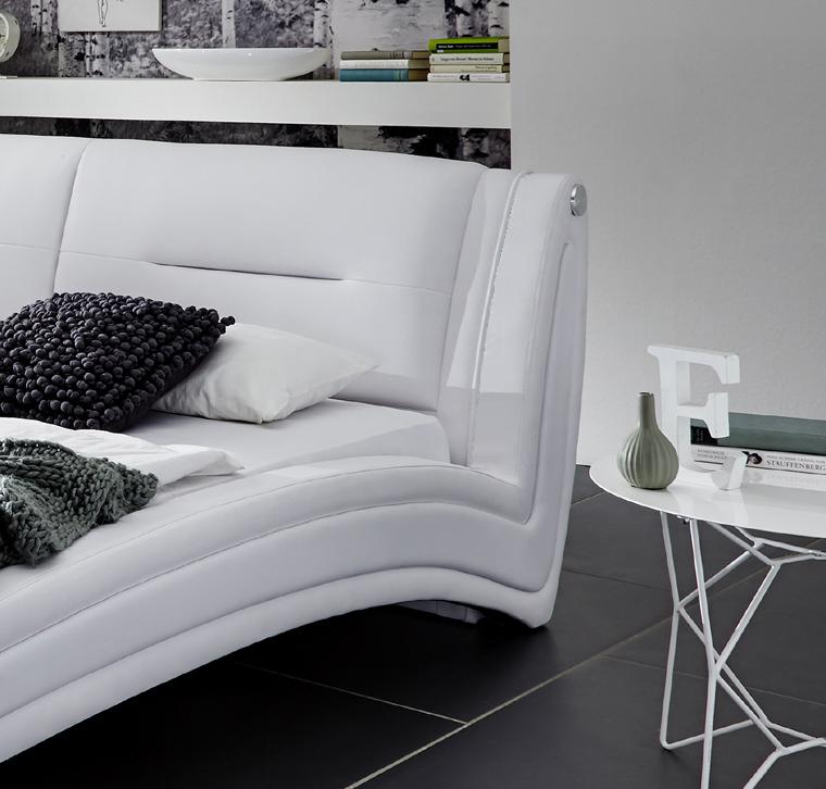 sam design bett 140 x 200 cm wei swing g nstig. Black Bedroom Furniture Sets. Home Design Ideas