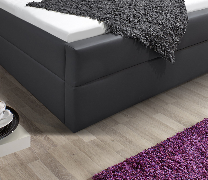 sam design boxspringbett 140 x 200 cm grau kappa. Black Bedroom Furniture Sets. Home Design Ideas
